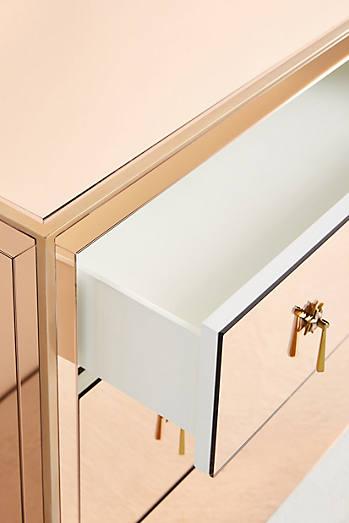 Gracemere Mirrored Three-Drawer Dresser