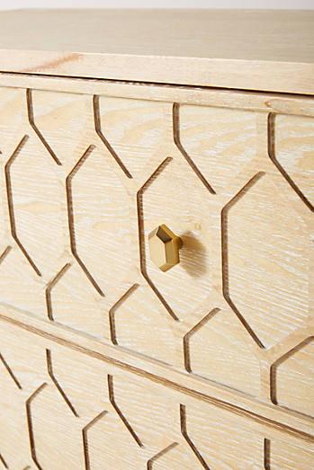 Textured Trellis Three-Drawer Dresser