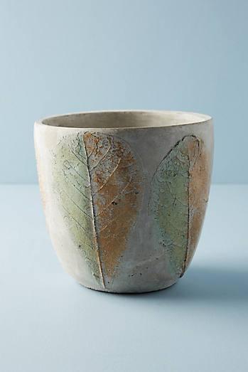 Pressed Leaf Pot