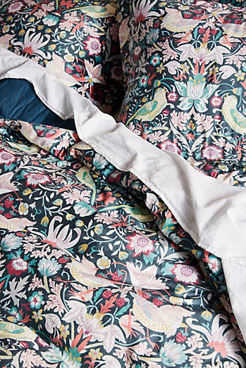Liberty for Anthropologie Strawberry Thief Quilt