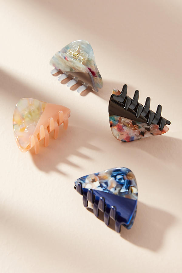 Triangle Tortoise Hair Clip Set