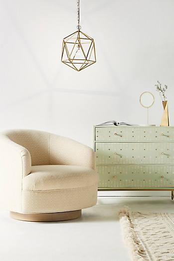 Wool Diamond Amoret Swivel Chair