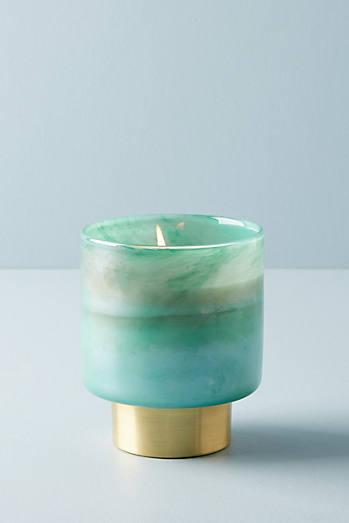 Gold-Cinched Candle