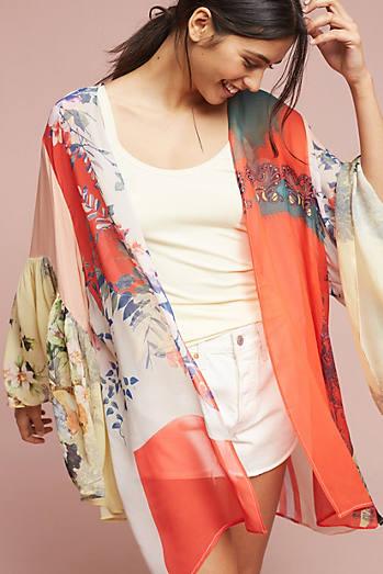 Georgette Ruffle Kimono