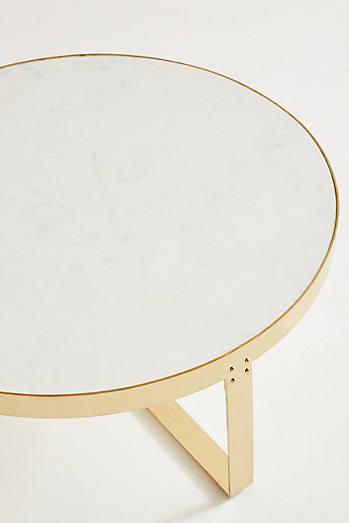 White Marble Lirit Coffee Table