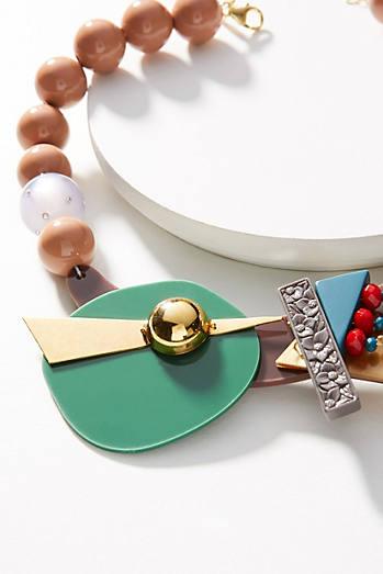 Memphis Geometric Collar Necklace