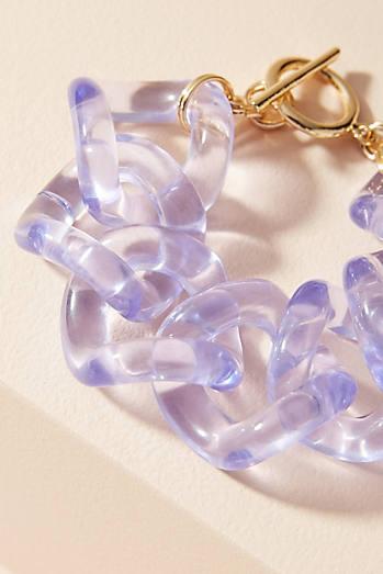 Linked Lucite Wrap Bracelet