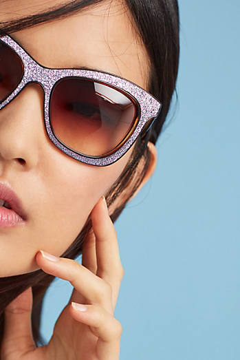 Glittered Wayfarer Sunglasses