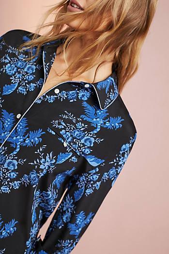 Stella McCartney Poppy Silk Sleep Shirt