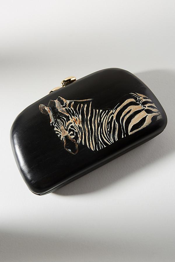 Mia Zebra Clutch