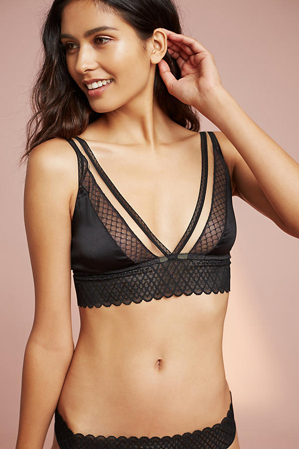 Else Lattice Plunge Bra