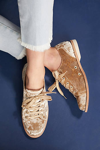 Bill Blass Crushed Velvet Bowling Shoes