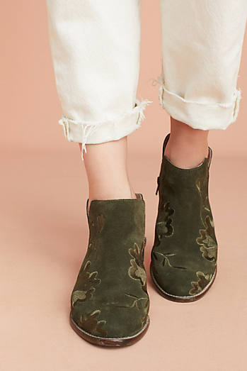 Seychelles Lantern Embroidered Booties