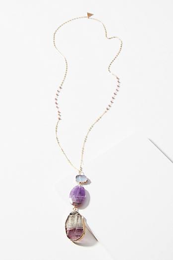 Glistening Amethyst Pendant Necklace