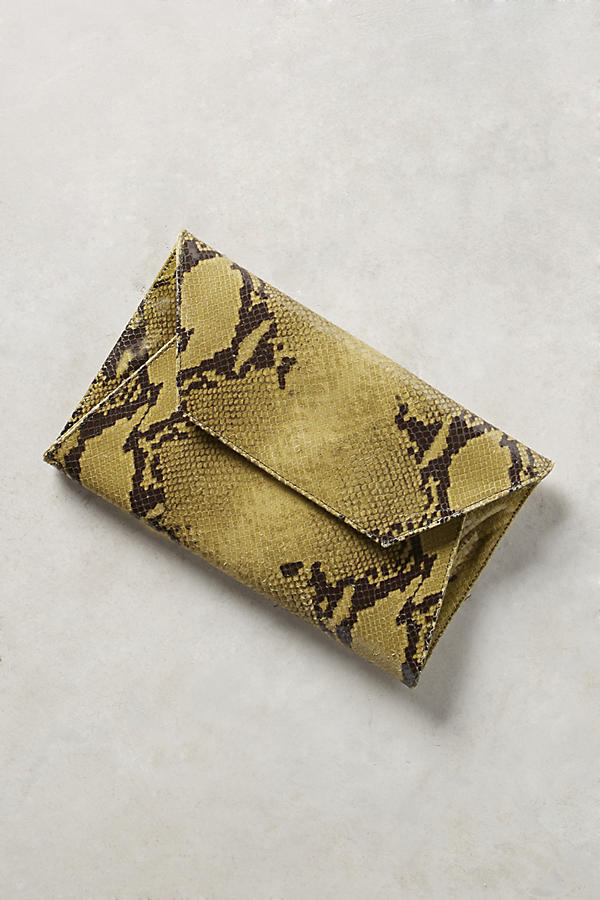 Oliveve Avocado Cleo Envelope Clutch