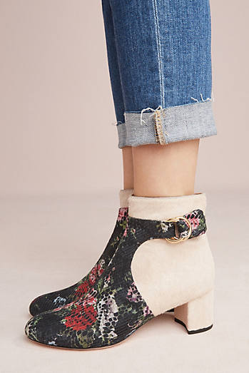 Anthropologie Contrast Boots