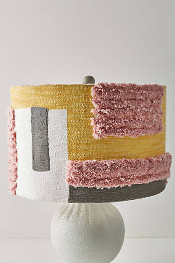 Tufted Colorblock Lamp Shade