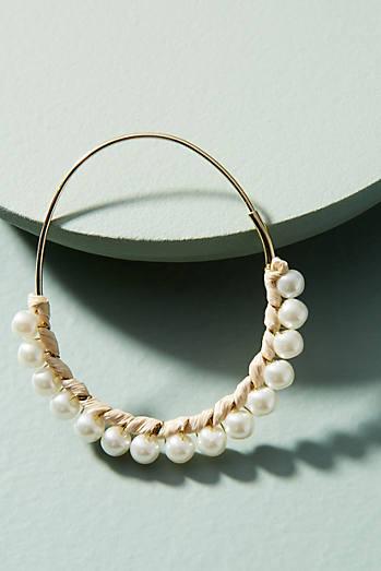 Callie Pearl Hoop Earrings