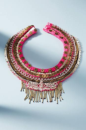 Layne Beaded Chiffon Necklace
