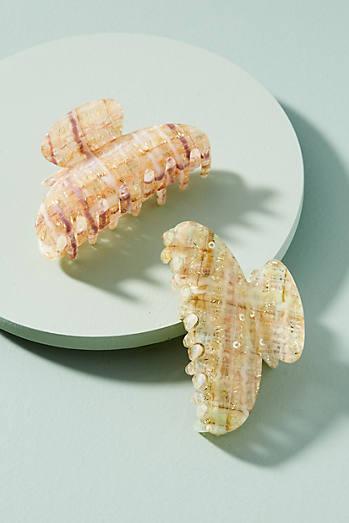 Tweed Pattern Hair Clip Set