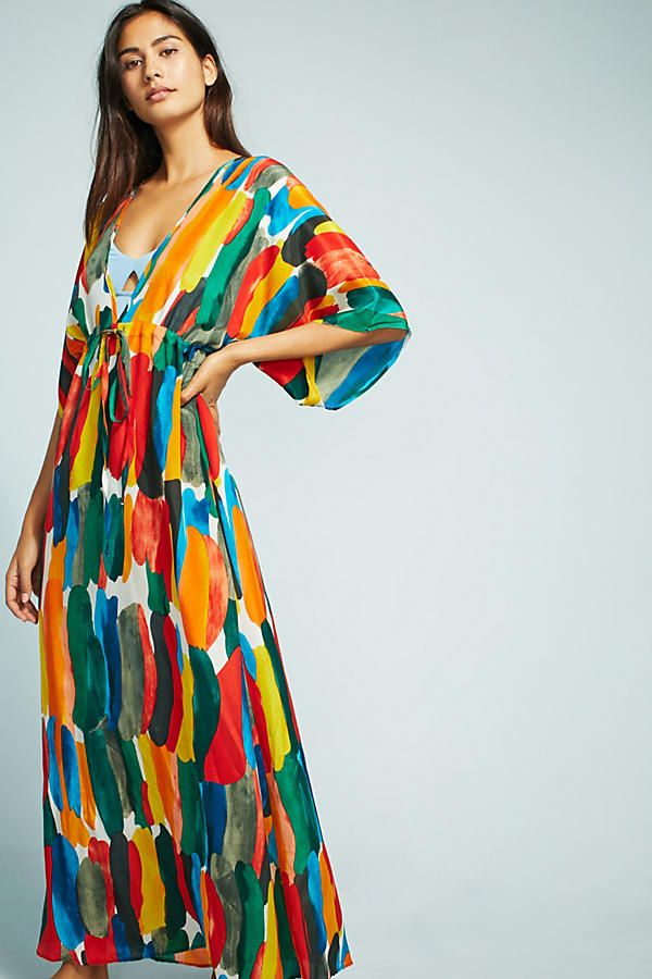 Watercolor Silk Caftan