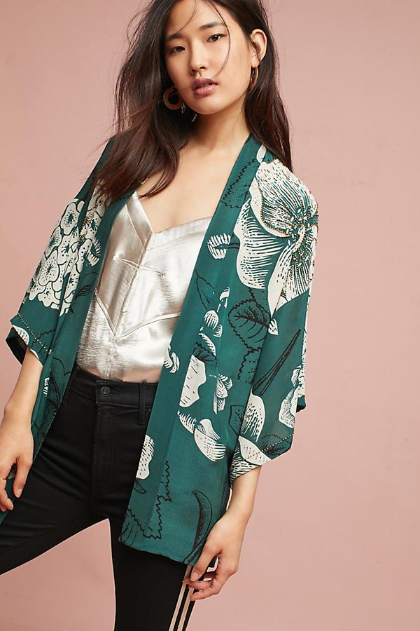 Verdure Floral Kimono