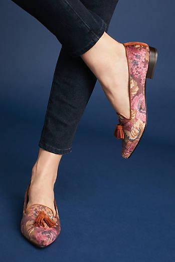 Bisue Ballerinas Floral Loafers