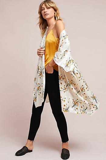 Dandelion Velvet Kimono