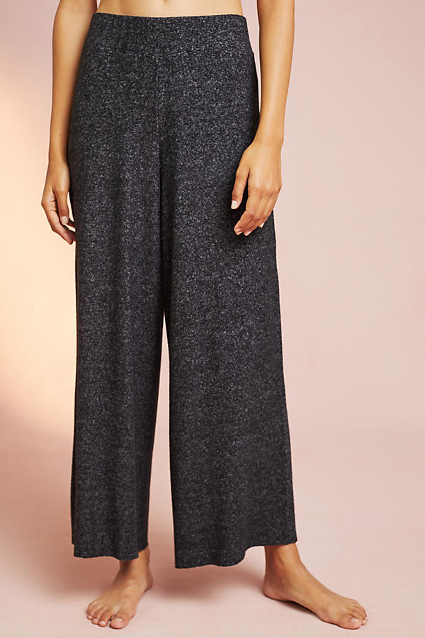 Brushed Fleece Cropped Wide-Legs