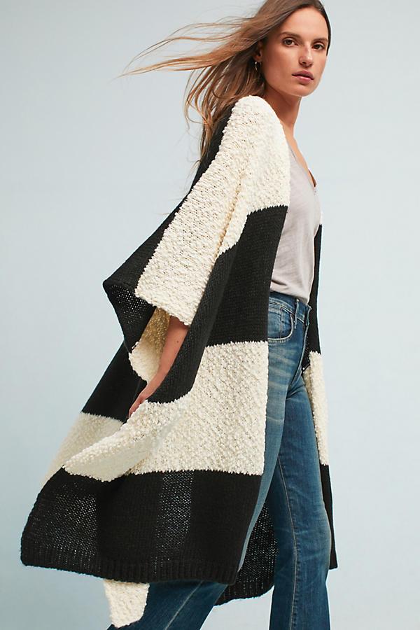 Mixed Stripes Kimono
