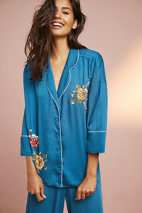 Floreat Floral Embroidered Sleep Top