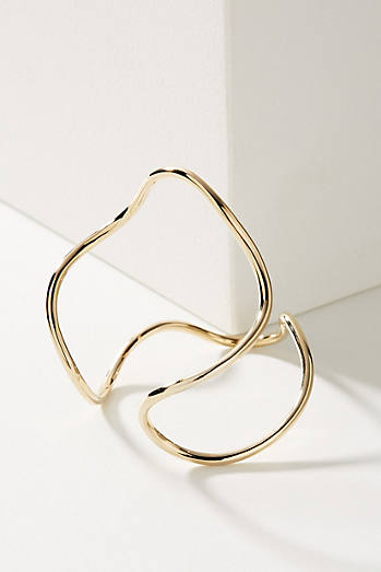 Golden Wave Cuff Bracelet