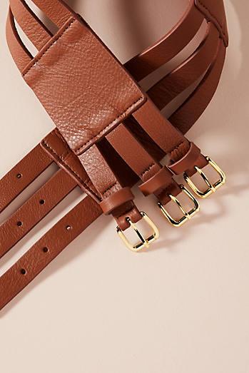 Triple Buckle Corset Belt