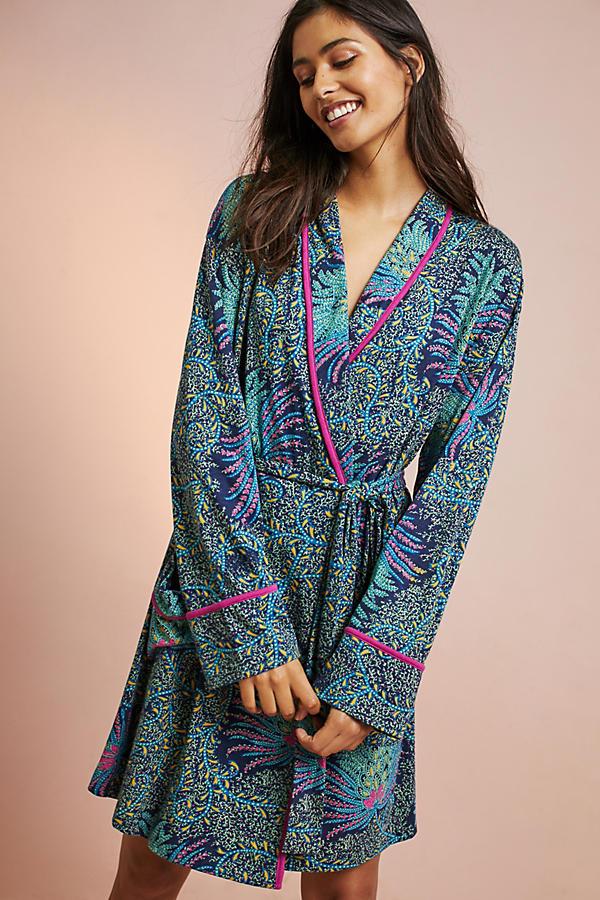 Floreat Printed Knit Robe