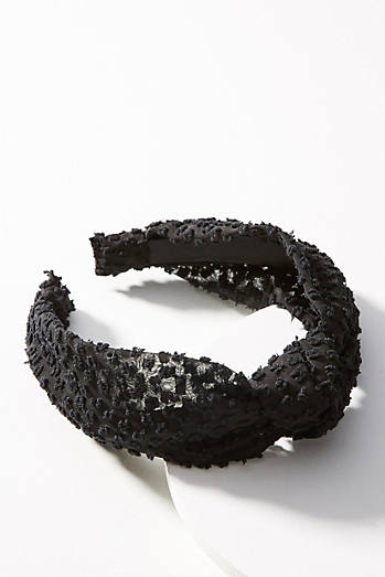 Knotted Chiffon Seersucker Headband