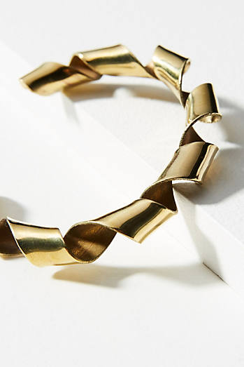 Coiled Ribbon Cuff Bracelet
