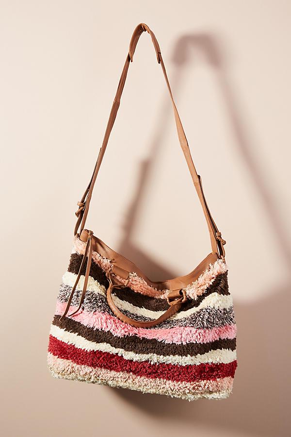 Oriana Striped Weekender Bag