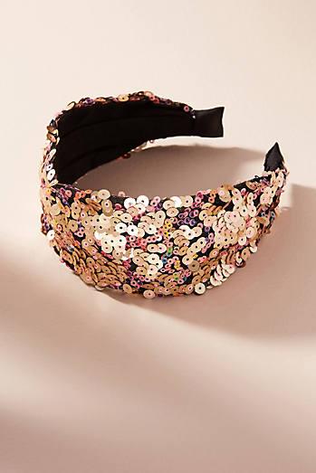 Lila Sequined Headband