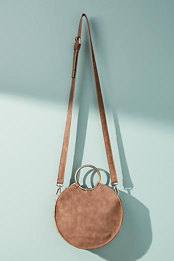 Stitched Circular Crossbody Bag