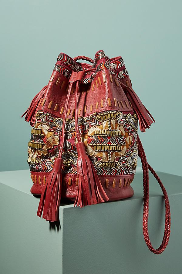 Inko Embroidered Bucket Bag