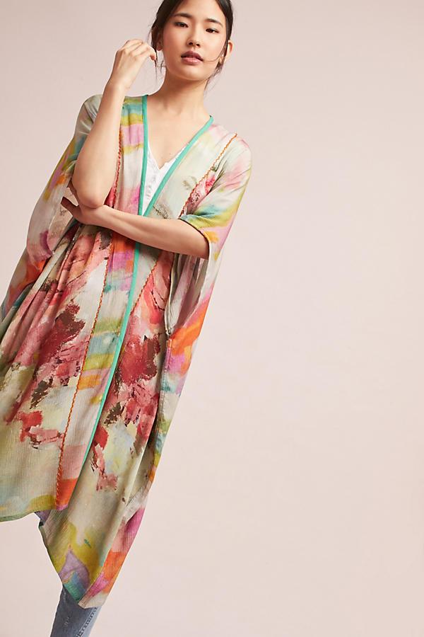 Blurred Floral Kimono
