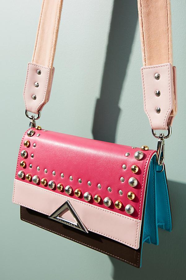 Double Spiga Studded Crossbody Bag