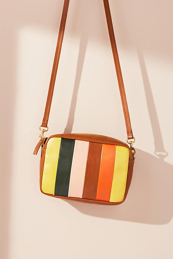 Clare V. Midi Striped Crossbody Bag