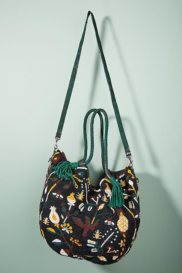 Cabas Beaded Shoulder Bag