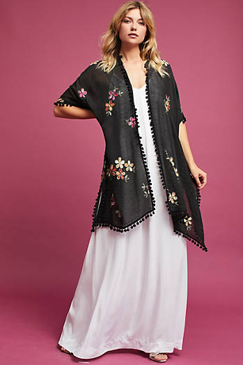 Elisa Floral Embroidered Kimono