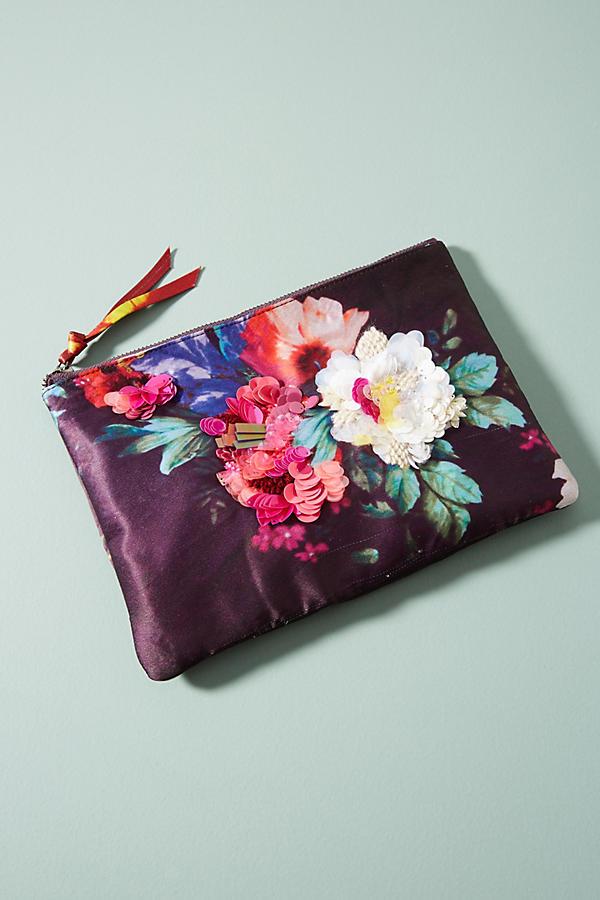 Floral Silk Pouch