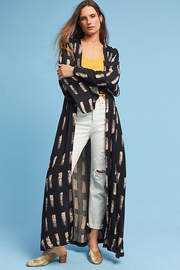 Brushstroke Duster Kimono