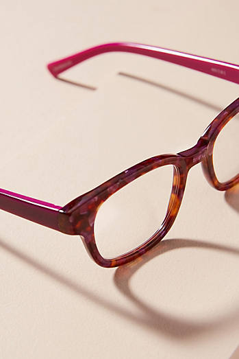 Eyebobs Purple Marble Reading Glasses