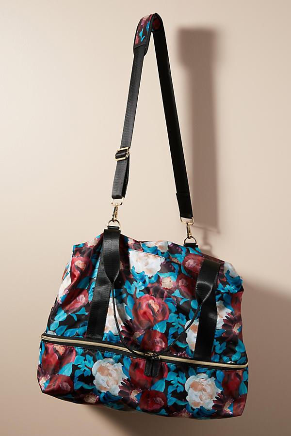 Floral Overlay Weekender Bag