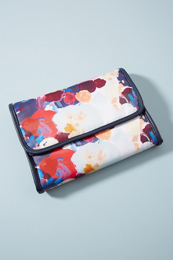 Floral Overlay Travel Bag